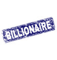 scratched billionaire framed rounded rectangle vector image vector image