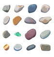 sea stones isolated on white background vector image vector image
