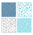 seamless patterns of paper planes vector image
