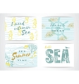 Set of summer cards with hand-drawing elements vector image