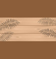 shadow of palm branches on light wooden boards vector image vector image