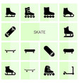 skate icons vector image vector image