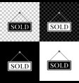 sold icon isolated on black white and transparent vector image vector image