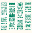st patricks day set funny text designs vector image vector image