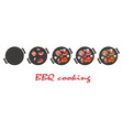 stages of cooking bbq vector image vector image