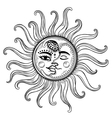 Sun and moon vintage vector image vector image