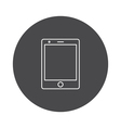 Tablet icon outline vector image