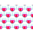 tall wineglass seamless pattern vector image vector image