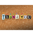 Thank You Concept vector image vector image