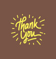 thank you letter vector image vector image