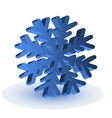The blue isolated snowflake vector image vector image
