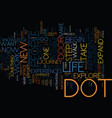 the dot text background word cloud concept vector image vector image