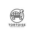 tortoise line art logo design best for pet or vector image vector image