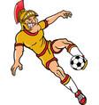 trojan sports logo mascot soccer vector image vector image