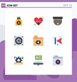 user interface pack 9 basic flat colors of vector image vector image