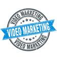 video marketing round grunge ribbon stamp vector image vector image