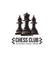vintage classic badge emblem chess logo vector image vector image