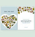 wedding invitation card with colored celandine vector image vector image