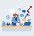 woman cooking and working vector image vector image
