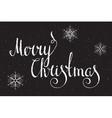 Hand written inscription Merry Christmas vector image