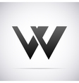 logo for letter W Design template vector image