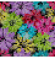 Seamless floral mosaic pattern vector image