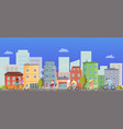 active people riding on bicycle in city vector image
