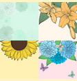 beautiful set background with space for text vector image vector image