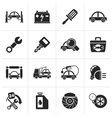 Black Car service maintenance icons vector image vector image