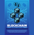 blockchain technology poster for cryptocurrency vector image