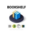Bookshelf icon in different style vector image vector image