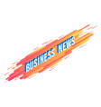 business news isometric text design - volumetric vector image vector image