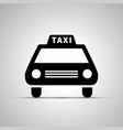 car taxi silhouette simple black icon vector image