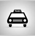 car taxi silhouette simple black icon vector image vector image