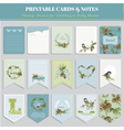 Cards Tags and Labels - Christmas Winter Birds vector image vector image
