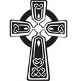 celtic cross vector image vector image