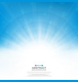 center of sun burst effect on clean blue sky vector image