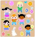Children spring set vector | Price: 3 Credits (USD $3)