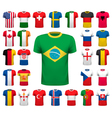 Collection of various soccer jerseys National vector image vector image