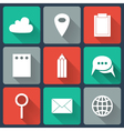 Colorful Business Flat icons vector image