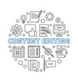 content editing round concept outline vector image