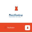 creative girls skirt logo design flat color logo vector image