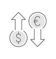 currency exchange linear on white vector image