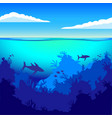 depths of the ocean on the seabed underwater vector image vector image