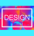 design concept on neon color vector image