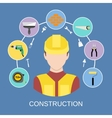Engineer builder icons set vector image