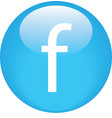 Facebook button simple shiny vector image vector image