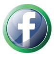 facebook platform logo inside green circle icon vector image vector image