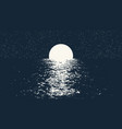 full moon at night sea vector image vector image