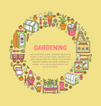 gardening planting and horticulture banner with vector image vector image